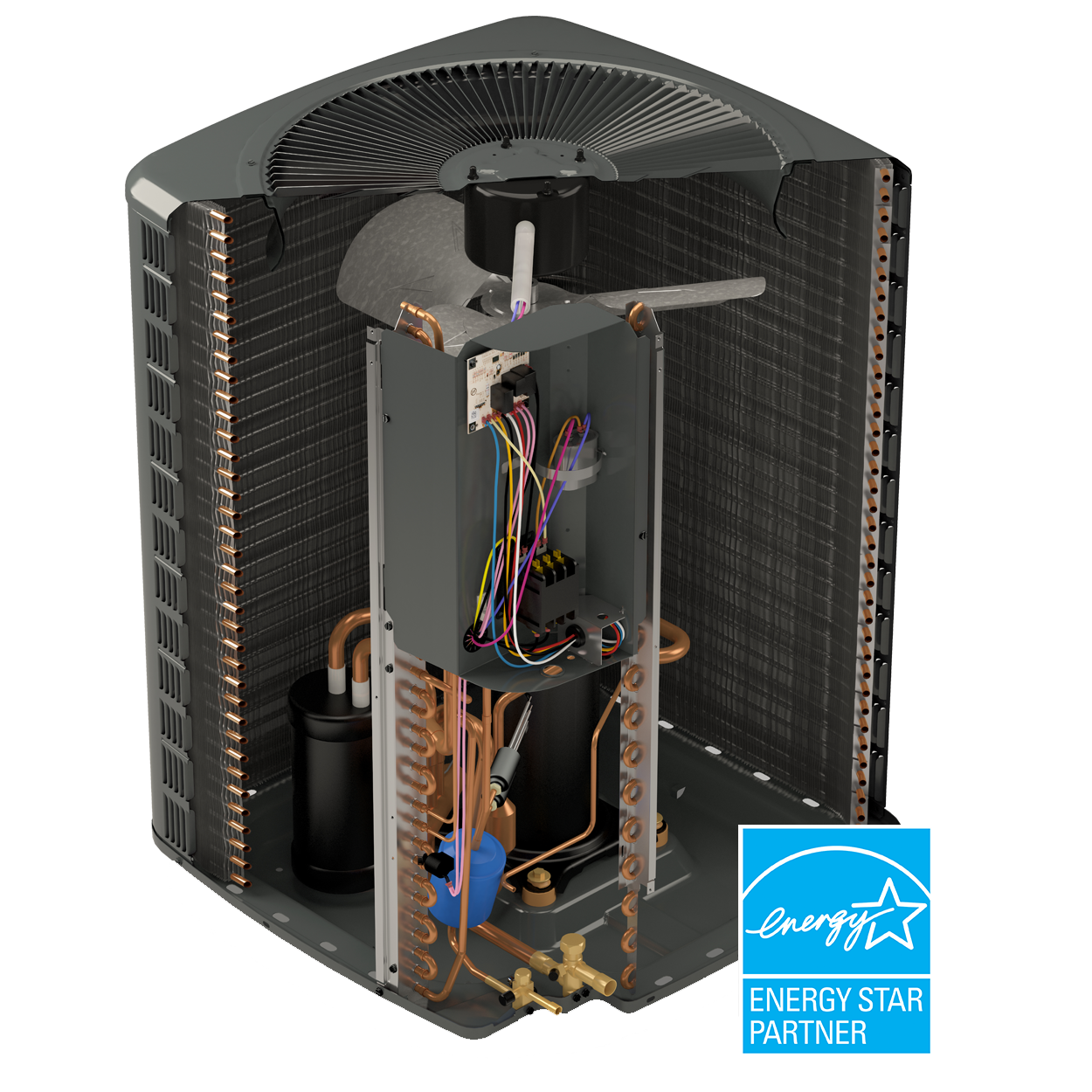Heating And Cooling Products Hvac Systems Goodman Ac Wiring For Heater Energystar Cutaway